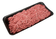 Carne tritata fresca Fotografia Stock Libera da Diritti