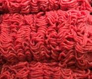 Carne tritata fresca, hamburger Fotografia Stock Libera da Diritti