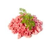 Carne tritata grezza Fotografia Stock Libera da Diritti