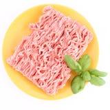 Carne tritata grezza Fotografia Stock