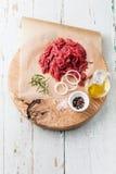 Carne triturada fresca imagens de stock