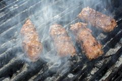 Carne triturada grelhada Rolls Imagem de Stock Royalty Free