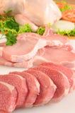 Carne vermelha e galinha Imagens de Stock Royalty Free