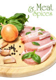 Carne y especias Fotografía de archivo libre de regalías