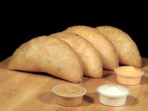 Carne y pastel de queso fritos imágenes de archivo libres de regalías