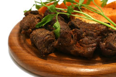 Carne y patata de la carne de vaca Fotografía de archivo