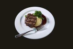 Carne y patatas Imagen de archivo libre de regalías