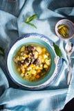 Carne y sopa de patatas finlandesas Foto de archivo libre de regalías