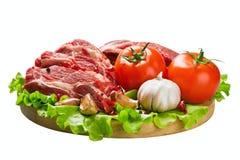 Carne y verduras frescas Fotos de archivo