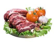 Carne y verduras frescas Fotos de archivo libres de regalías