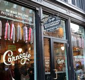 Carnegie Delicatessen Restaurant stock photos