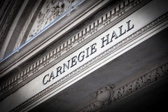 Carnegie Hall Miasto Nowy Jork Obrazy Royalty Free