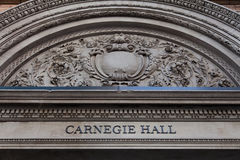 Carnegie Hall in New York Royalty Free Stock Photos