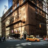 Carnegie Hall in New York. Famous Carnegie Hall in Manhattan royalty free stock photos