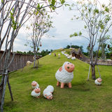 Carneiros da escultura Fotografia de Stock