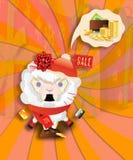 Carneiros de compra chocados ilustração do vetor