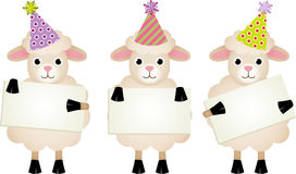 Carneiros do aniversário com quadros indicadores Foto de Stock Royalty Free
