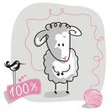 Carneiros do Doodle ilustração stock