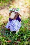 Carneiros feitos a mão de matéria têxtil no vestido Imagens de Stock Royalty Free