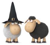 carneiros funy da ilustração 3d Foto de Stock Royalty Free
