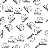 carneiros no ícone da grama no estilo do teste padrão Elemento do ícone dos carneiros para apps móveis do conceito e da Web Carne ilustração royalty free