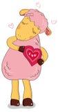 Carneiros no amor Imagens de Stock Royalty Free