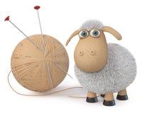 carneiros ridículos da ilustração 3d Fotografia de Stock