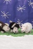 Carneiros scenary da neve dos ofícios das decorações do Xmas Imagens de Stock Royalty Free