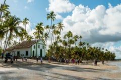 Carneiros strand, Pernambuco, Brasilien - Januari, 2018: Helgon Benedict Chapel royaltyfria bilder
