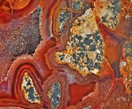 Carnelian and minerals stock photo