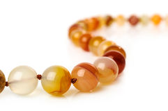 Carnelian necklace close-up Royalty Free Stock Photo