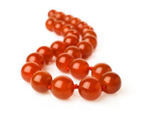 Carnelian necklace Royalty Free Stock Image