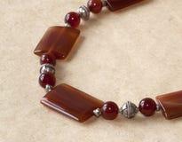 Carnelian stone beads Royalty Free Stock Image