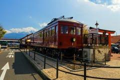 Carnergie trainat Kawaguchiko stacja Obraz Stock
