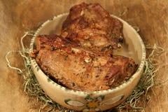 Carnes asadas salvajes Imagen de archivo libre de regalías