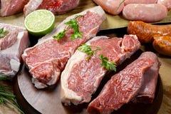 Carnes cruas Fotografia de Stock