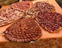 carnes curadas en Cerdeña imagen de archivo