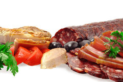 Carnes do supermercado fino foto de stock royalty free