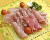 Carnes rebanadas Imagen de archivo