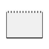 Carnet à dessins d'isolement sur le fond blanc Photographie stock
