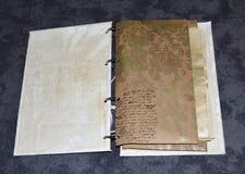 Carnet avec l'imitation sans signification du modèle manuscrit Images libres de droits