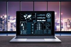 Carnet avec le graphique Photographie stock libre de droits
