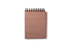 carnet avec le papier brun de métier Photo libre de droits