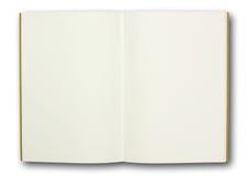 Carnet blanc, d'isolement Photo stock