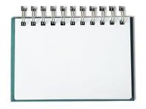 Carnet blanc horizontal Photographie stock libre de droits