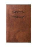 Carnet d'écriture de cuir de peau de Brown de vintage Images libres de droits