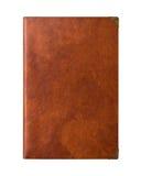 Carnet d'écriture de cuir de peau de Brown de vintage Photo libre de droits