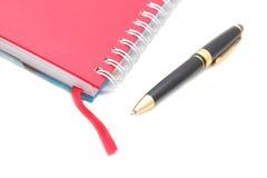 Carnet d'adresses et crayon lecteur avec l'espace de copie. Images stock