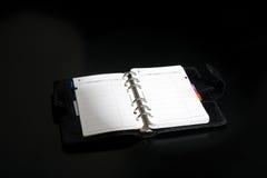 carnet d'adresses ouvert photographie stock