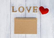Carnet d'amour Photos libres de droits